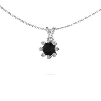 Picture of Pendant Carola 3 950 platinum black diamond 1.00 crt