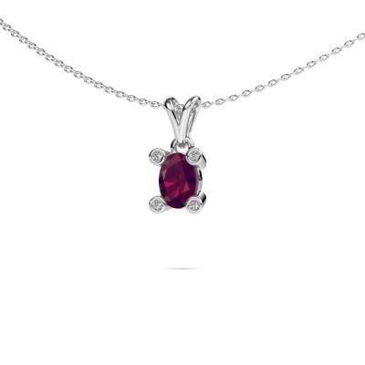Picture of Necklace Cornelia Oval 950 platinum rhodolite 7x5 mm