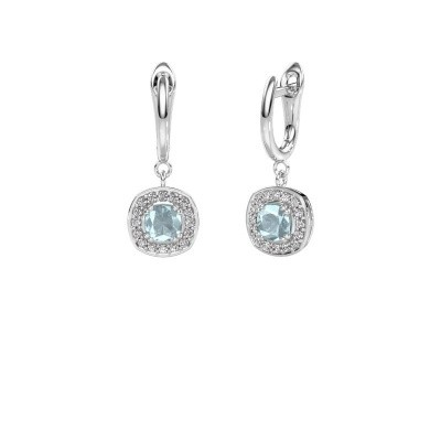 Picture of Drop earrings Marlotte 1 585 white gold aquamarine 5 mm