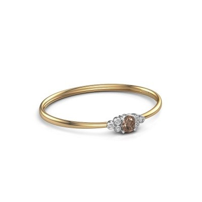 Foto van Slavenarmband Lucy 585 goud bruine diamant 1.27 crt
