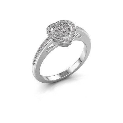 Verlovingsring Emmy 585 witgoud diamant 0.314 crt