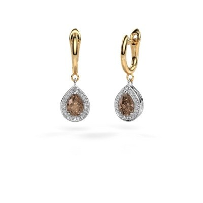 Picture of Drop earrings Ginger 1 585 white gold brown diamond 1.41 crt
