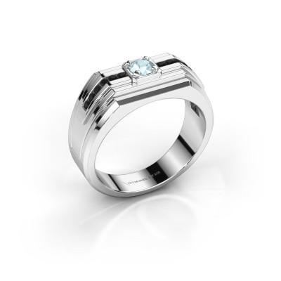Foto van Heren ring Oliver 925 zilver aquamarijn 4 mm