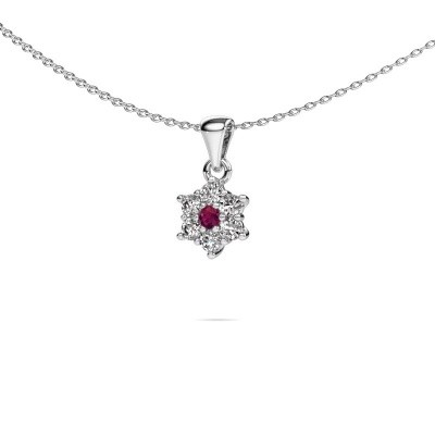 Picture of Necklace Chantal 925 silver rhodolite 2.4 mm