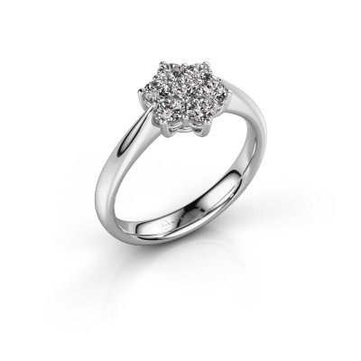 Promise ring Chantal 1 585 witgoud diamant 0.560 crt