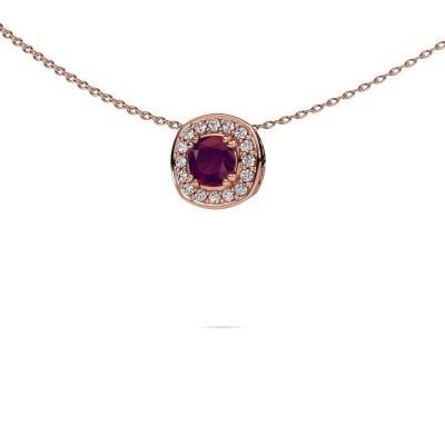 Picture of Necklace Carolina 375 rose gold rhodolite 5 mm