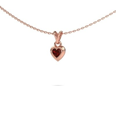 Picture of Pendant Charlotte Heart 375 rose gold garnet 4 mm