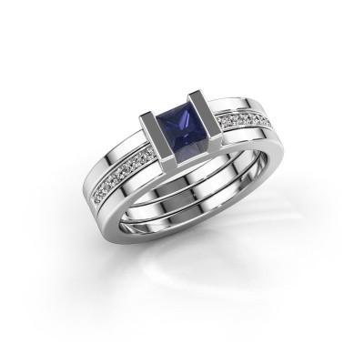 Foto van Ring Desire 925 zilver saffier 4 mm