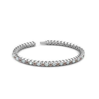 Foto van Tennisarmband Patrica 585 witgoud bruine diamant 2.75 crt