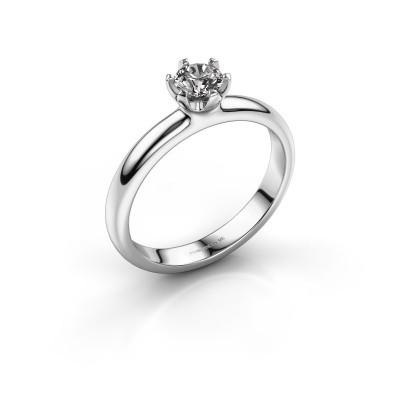 Foto van Verlovingsring Lorretta 375 witgoud diamant 0.40 crt