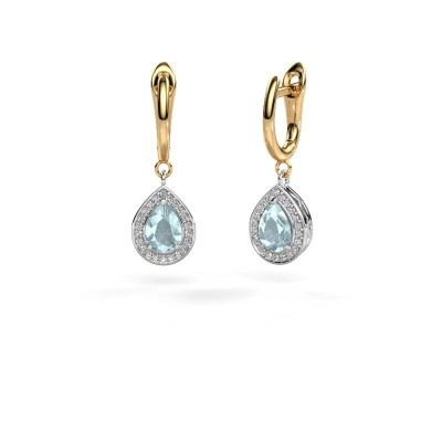 Picture of Drop earrings Ginger 1 585 white gold aquamarine 7x5 mm