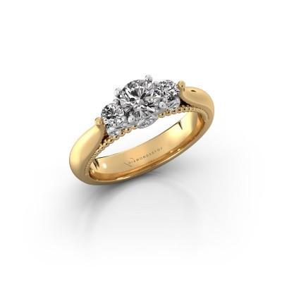 Foto van Verlovingsring Tiffani 585 goud diamant 0.70 crt