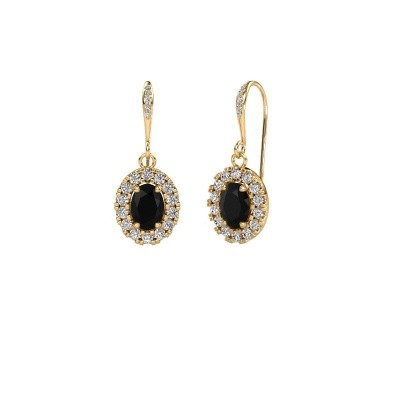 Picture of Drop earrings Jorinda 2 585 gold black diamond 2.51 crt