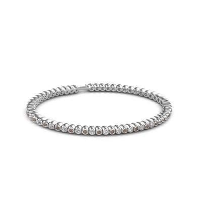 Foto van Tennisarmband Trix 585 witgoud bruine diamant 1.800 crt
