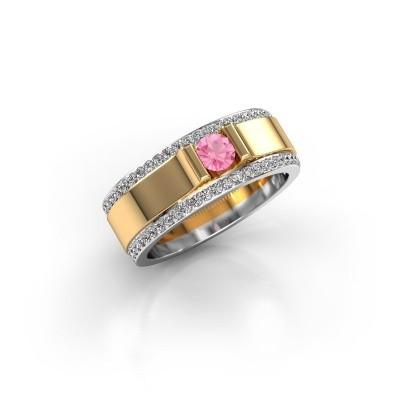 Foto van Herenring Danillo 585 goud roze saffier 4.2 mm
