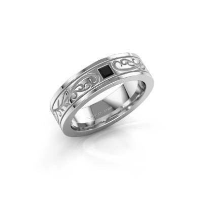Foto van Heren ring Matijs 585 witgoud zwarte diamant 0.204 crt