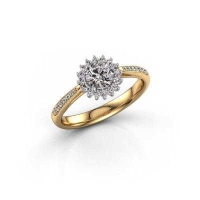 Foto van Verlovingsring Mariska 2 585 goud diamant 0.71 crt