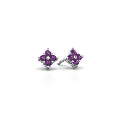 Picture of Stud earrings Maryetta 925 silver amethyst 2 mm
