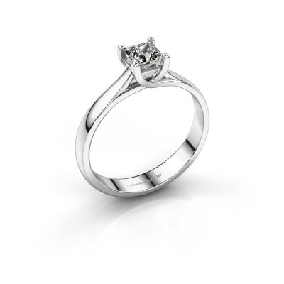 Picture of Engagement ring Mia Square 585 white gold diamond 0.40 crt
