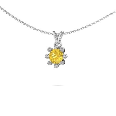 Picture of Pendant Carola 3 950 platinum yellow sapphire 6 mm