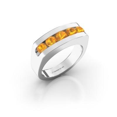 Foto van Heren ring Richard 375 witgoud citrien 4 mm