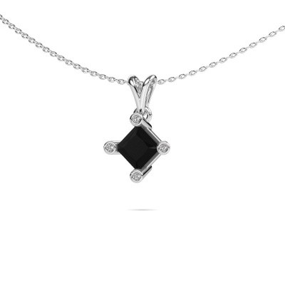 Picture of Pendant Cornelia Square 950 platinum black diamond 1.58 crt