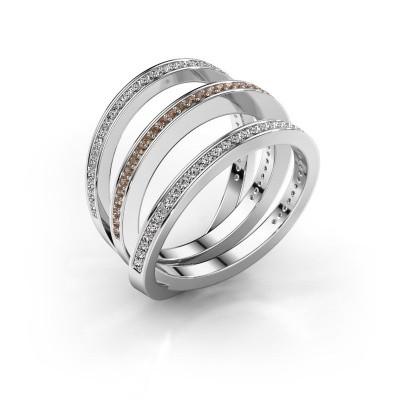 Foto van Ring Jaqueline 950 platina bruine diamant 0.55 crt