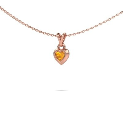 Picture of Pendant Charlotte Heart 375 rose gold citrin 4 mm