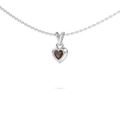 Picture of Pendant Charlotte Heart 375 white gold smokey quartz 4 mm