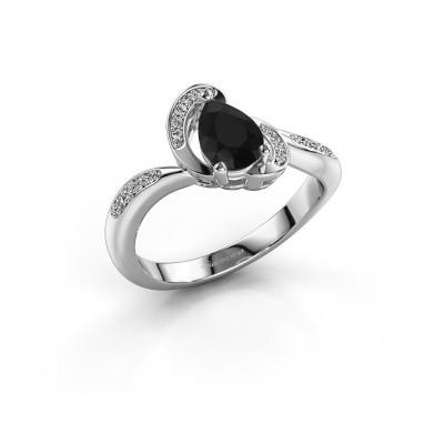 Foto van Ring Jonelle 925 zilver zwarte diamant 0.878 crt