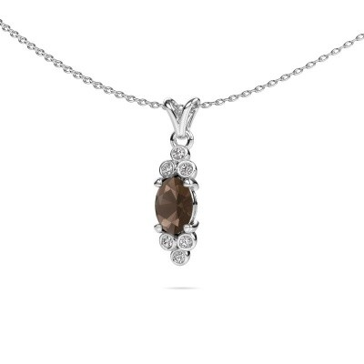 Picture of Pendant Lucy 2 585 white gold smokey quartz 7x5 mm