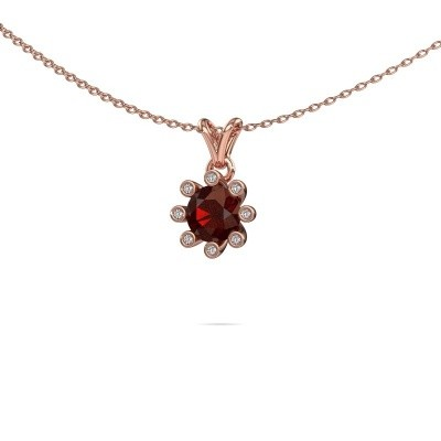 Picture of Pendant Carola 3 585 rose gold garnet 6 mm