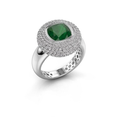 Picture of Ring Keshia 585 white gold emerald 8 mm