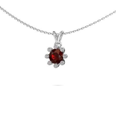 Picture of Pendant Carola 3 375 white gold garnet 6 mm