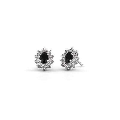 Picture of Earrings Leesa 585 white gold black diamond 1.800 crt