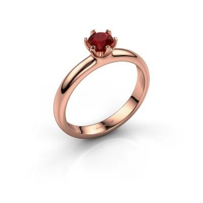 Foto van Verlovingsring Lorretta 585 rosé goud robijn 4.7 mm