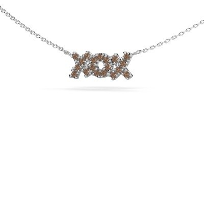 Picture of Necklace XoX 925 silver brown diamond 0.285 crt