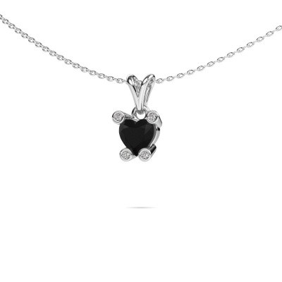 Picture of Necklace Cornelia Heart 950 platinum black diamond 0.98 crt