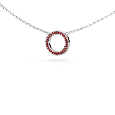 Picture of Pendant Round 1 375 white gold ruby 0.8 mm