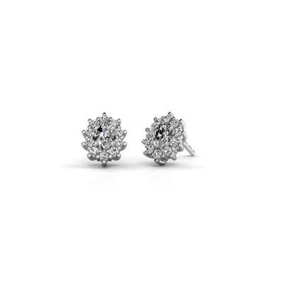 Picture of Earrings Leesa 950 platinum zirconia 6x4 mm