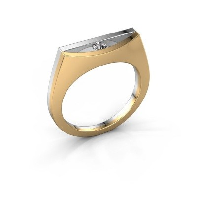 Ring Milou 585 goud diamant 0.10 crt