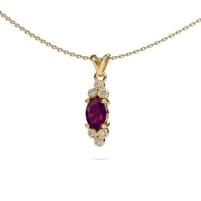 Picture of Pendant Lucy 2 375 gold rhodolite 7x5 mm