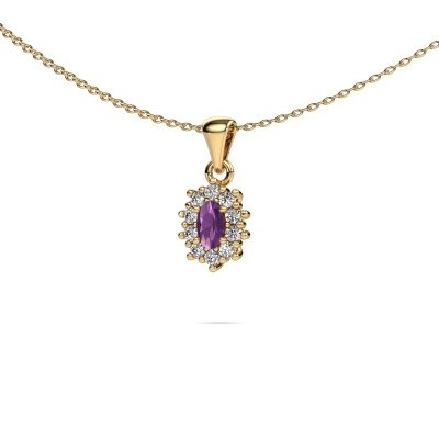 Picture of Necklace Leesa 375 gold amethyst 6x4 mm