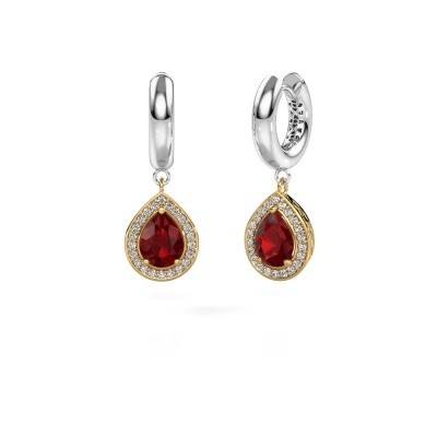 Picture of Drop earrings Barbar 1 585 gold ruby 8x6 mm