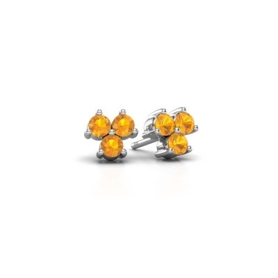 Picture of Stud earrings Shirlee 925 silver citrin 3 mm