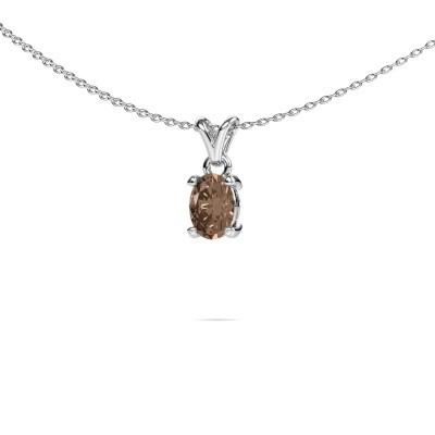 Picture of Necklace Lucy 1 950 platinum brown diamond 0.80 crt
