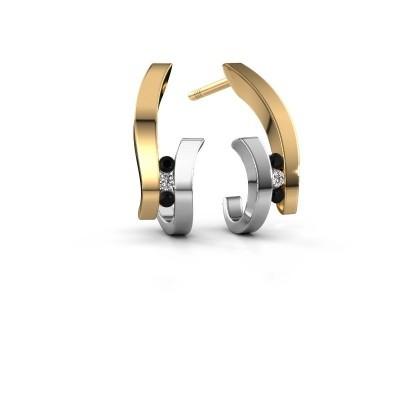 Bild von Ohrringe Juliette 585 Gold Schwarz Diamant 0.102 crt
