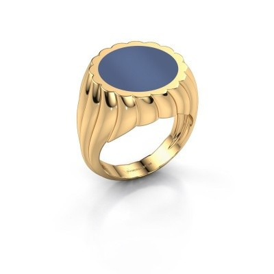 Picture of Signet ring Mano 585 gold blue sardonyx 13 mm