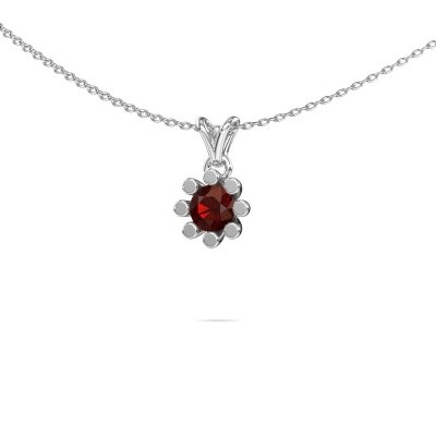Picture of Pendant Carola 1 950 platinum garnet 5 mm