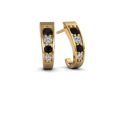 Bild von Ohrringe Glady 585 Gold Schwarz Diamant 0.572 crt
